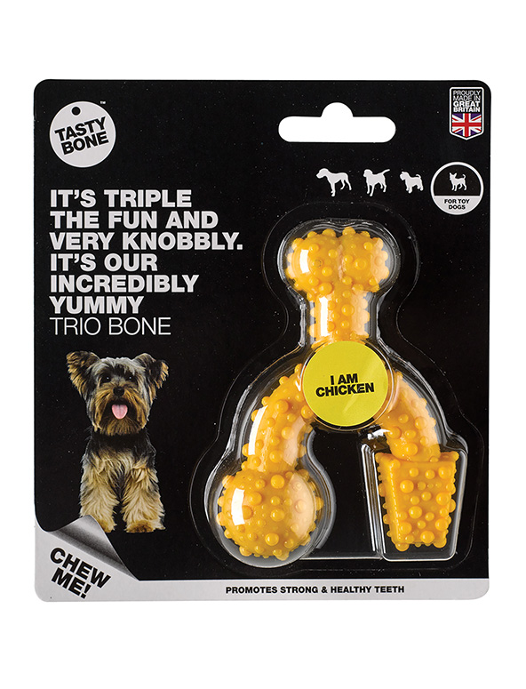 Nylon Trio Bone Toy Chicken